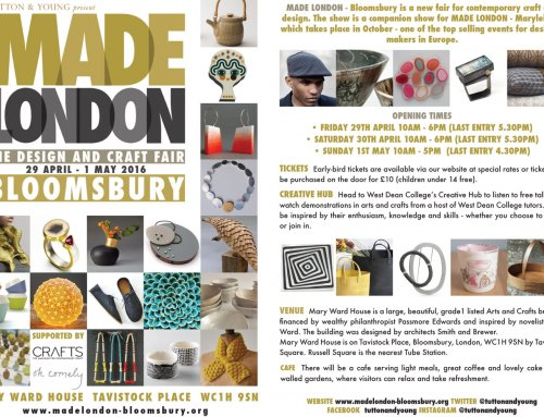 MADE LONDON – Bloomsbury, The Design and Craft Fair