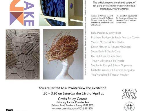 Two Make Collaborative project – Crafts Study Centre, Farnham
